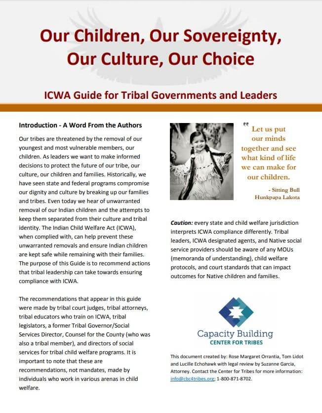 ICWA Guide for Tribal Governments and Leaders (PDF version)