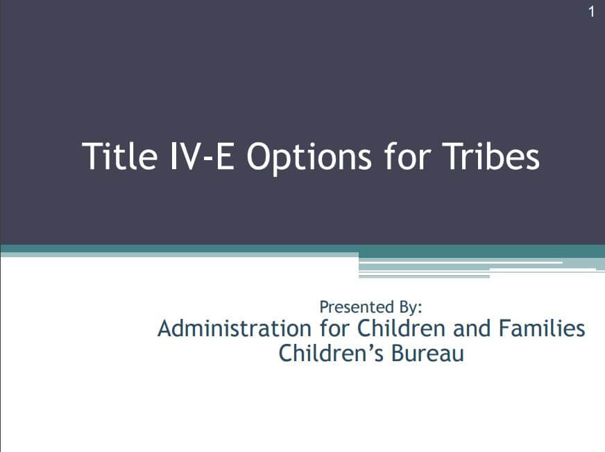 Title IV-E Options Cover