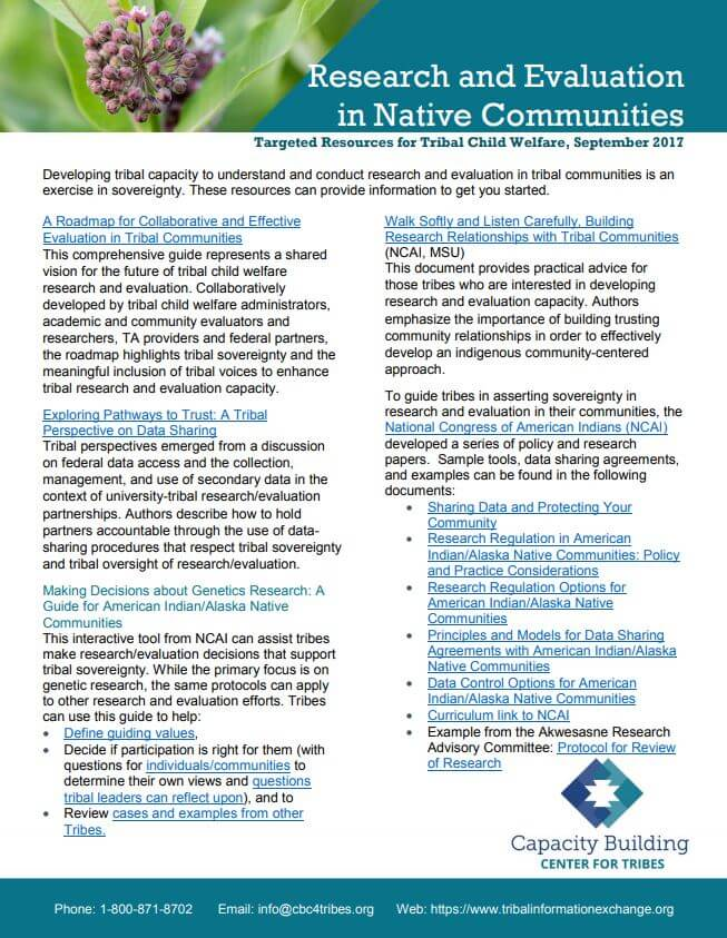 Research and Evaluation in Native Communities Resource List image