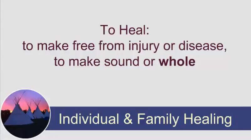Indigenous Healing: Individual and Family Healing (2 of 3)