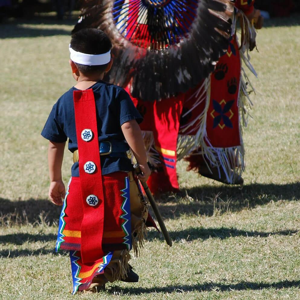 Child at powwow